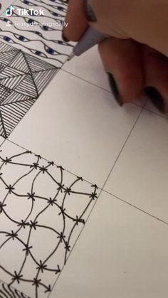 Easy Doodle Art, Doodle Art Drawing, Zentangle Drawings, Mandala Drawing, Doodles Zentangles, Doodle Patterns, Doodle Art Designs, Zentangle Patterns, Line Patterns