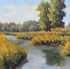Steady Stream by Kathy Mohl in the FASO Daily Art Show