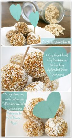 1. Melt butter over a low heat.  2. Combine muesli, melted butter, apricots and honey in a food processor. Mix for approximately 3 minutes until well combined, with a consistent texture.  3. Fill a shallow dish or plate with coconut.  4. Scoop out bite sized pieces of apricot mix with a spoon and roll into little balls. Coat them in coconut and place on a flat tray lined with baking paper.  5. Pop them in the fridge for 15-30 minutes.