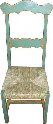 FDL 0018 Teal Wicker Dining Chair