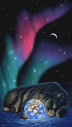 Amazing Animal Pictures, Teddy Bear Cartoon, Bear Tattoos, Beautiful Fantasy Art, Native American Artists, Bear Art, Animal Wallpaper, Wildlife Art, Pet Tiger