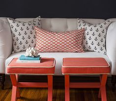 Anchors Away by Caitlin Wilson - beautiful fabric combinations. Coral, Navy, teal. A great demonstration of fabric print mixing.