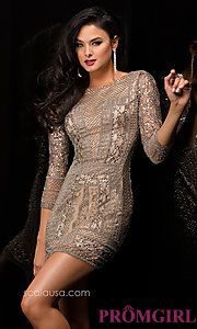 Buy Sequin Embellished Cocktail Dress by Scala at PromGirl