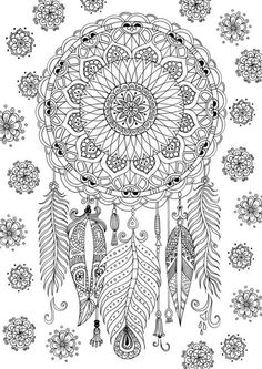 Mandalas Coloring Pages for Adults. 30 Mandalas Coloring Pages for Adults. 31 Most Brilliant Cool Coloring Pages Plants Sunflower Page Dream Catcher Coloring Pages, Mandala Coloring Pages, Animal Coloring Pages, Coloring Books, Fairy Coloring, Kids Coloring, Abstract Coloring Pages, Dinosaur Coloring, Pokemon Coloring