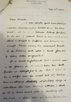 In 1959 C.S.Lewis was elected an Honorary Fellow of Univ. The opening of his letter of thanks is reproduced at here. univ.ox.ac.uk
