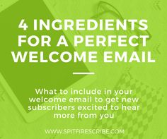 Make the most of list building with a welcome email thats gets subscribers excited to hear from you