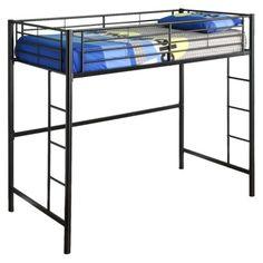 Metal Workstation Loft Kids Bed - Black (twin)