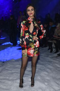 Victoria Justice at the Philipp Plein show at New York Fashion Week, New York City (10 February, 2018)