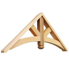 Gable Bracket We offer wooden cedar architectural brackets, wooden cedar corbels and gingerbreads for front porch posts, gable, sofits and front stoop. We have largest selection of Cedar Brackets and Cedar Brace made in USA.
