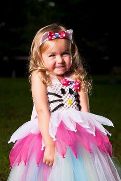 Say Hello to Miss Kitty Tutu Dress Halloween Costume Birthday Party Pretend Play. $65.00, via Etsy.