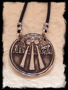 Awen necklace awen jewelry by designsbydomino on etsy httpswww latest from triskele moon studios awen fine silver pendant set with three 25 mozeypictures Gallery