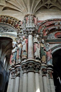 Portico of Glory, Orense Cathedral. Architecture Romane, Sacred Architecture, Religious Architecture, Historical Architecture, Beautiful Architecture, Architecture Details, Architecture Religieuse, Eslava, Buildings Artwork
