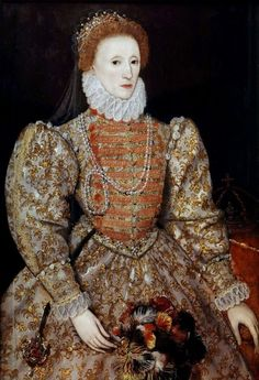 Queen Elizabeth I – was the only surviving child of King Henry VIII of England and his second wife Anne Boleyn. See Queen Elizabeth I in Portraits. Mary Queen Of Scots, Elizabeth I, Elizabeth Queen Of England, Elizabethan Fashion, Elizabethan Era, Elizabethan Costume, Tudor Fashion, Anne Boleyn, Isabel I