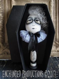 Delbert the ghost in his coffin box by Joyce Stahl of Enchanted Productions....All Rights Reserved.