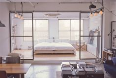 Minimalist Industrial Tokyo Loft - emmas designblogg
