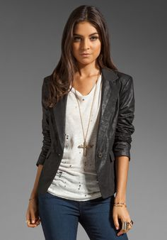 DIESEL Lucille Blazer in Black at Revolve Clothing // MGV - I really like this style on women