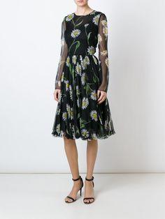Dolce   Gabbana Vestido floral de seda Vestidos Florais, Sapatos  Importados, Terezinha, Vestido ae58695308