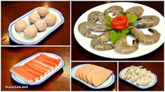 Various meat, seafood and dumplings to enjoy
