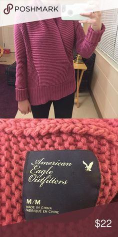 AE Mauve Wrap Sweater American eagle mauve wrap sweater. Size medium. Such a beautiful color. Open to offers and 30% off bundles! American Eagle Outfitters Sweaters