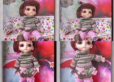 bjd / dolls Lati yellow Hand knit sweater and leggings Sweaters And Leggings, Hand Knitted Sweaters, Bjd, Hand Knitting, Hands, Dolls, Skirt, Yellow, Crochet