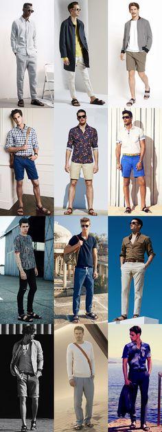Top 5 Mens Summer Footwear Styles: 4.Leather Sandals Lookbook Inspiration