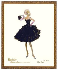 Enchantment Limited Edition Barbie Print by Robert Best. Signed and numbered, with a Certificate of Authenticity. Contact one of our Design Specialists for questions or to order at BabyBox.com, (203) 655-0185.