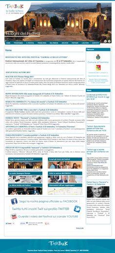 Sito web di presentazione per l'evento Taobuk - Festival del Libro di Taormina - Homepage - Realizzato con Joomla 2.5 e K2 - Anno 2013