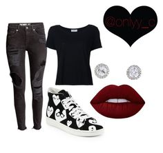 """""""Untitled #79"""" by onlyyc on Polyvore featuring Play Comme des Garçons, Frame Denim and Lime Crime"""