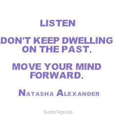 Moving forward is not about changing geographical locations.