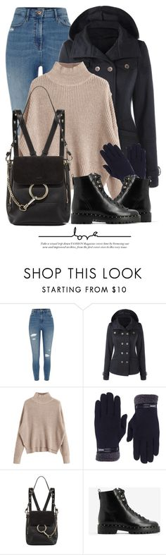 """10:57"" by monmondefou ❤ liked on Polyvore featuring River Island, Chloé and Valentino"