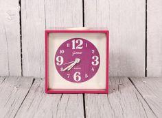 Goldbuhl alarm clock - Retro mechanical clock - RARE collectibles Goldbühl alarm clock - Germany clock - Violet clock - Wimd up clock