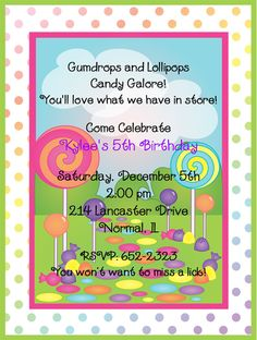 Could say...Where gumdrops and lollipops and candy are made, You'll love what we have in store for 2nd grade!