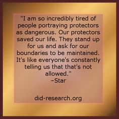 """I am so incredibly tired of people portraying protectors as dangerous. Our…"