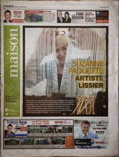 Nouvelles   Suzanne Paquette   Artiste lissier