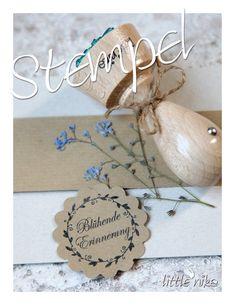 Gastgeschenke - Stempel HOCHZEIT Gastgeschenk Blumensamen - ein Designerstück von littlenika bei DaWanda