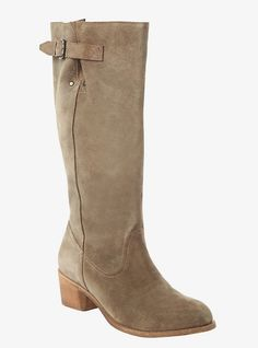 Suede Boots (Wide Width), SANDSHELL