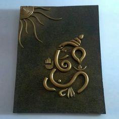 - ceramic work n lippan work Clay Wall Art, Mural Wall Art, Mural Painting, Ceramic Painting, Ceramic Art, Canvas Paintings, Clay Ganesha, Ganesha Painting, Ganesha Art