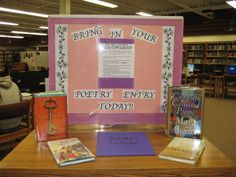April Poetry Month Contest Display