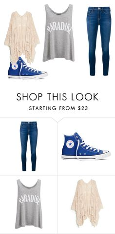 """""""Simple Outfit"""" by katerinatugulea ❤ liked on Polyvore featuring Frame Denim, Converse, Gestuz and MANGO"""