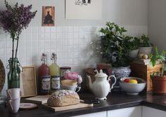 Plants in my white kitchen