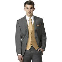 Men's Classic Yarn-Dyed Vest (115 BRL) ❤ liked on Polyvore featuring men's fashion, men's clothing, men's outerwear, men's vests, mens vest and tie, mens vest outerwear, mens ties and mens vest