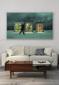Fine Art Photography Print Door to Summer Fantasy Giclee Print Limited Edition of 25 Oversized Wall Art Fantasy Winter Scene Fine Art Photography Fine Art Prints Limited Edition Prints Giclée Print Horizontal wall art wall art prints photomontage art fantasy scene horizontal wall art fantasy landscape winter print art winter photography oversized wall art photography prints Fantasy Photography, Fine Art Photography, Winter Photography, Ikea, Wall Art Prints, Fine Art Prints, Horizontal Wall Art, Oversized Wall Art, Fantasy Landscape