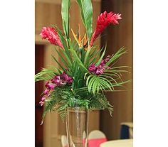 Wedding Arrangements in Naples FL, Posies, great tropical centerpiece for a wedding or any event