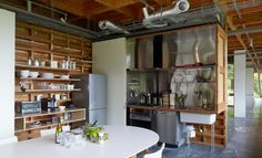 kitchen in House by Schemata Architects, Isumi