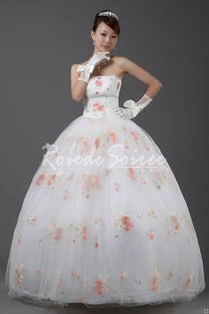 Robe de Mariée Couleur-robe de mariée sur mesure, robe de mariage pas chéres couleur robe