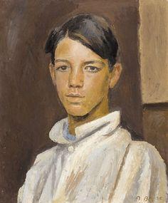 Alexandre Blanchet - Jeune homme, 1935 - Huile sur toile, 61 x 50 cm. Auction, Global Art, Painting, Art, Art Market