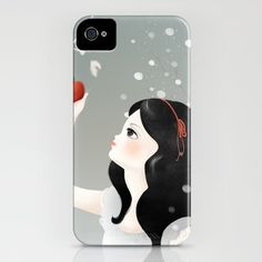 """iPhone Case featuring my illustration """"Snow White"""""""