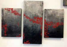 Large Three Piece Abstract Painting, Three Panel Wall Art, Contemporary Art