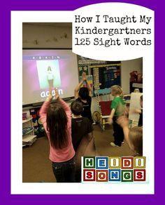 Heidi Songs How I Taught My Kindergartners 125 Sight Words Again Song.jpg