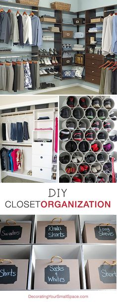 DIY Closet Organization • Ideas & Tutorials!